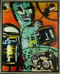 Herman Brood | Giclée: De Drummer | Afmeting: 100cm x 125cm