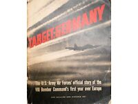 The US Army Air Forces official story of VIII Bomber Commands first year over Europe.