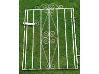 """Solid Wrought Iron Gate.Width31""""/74cm (1.5""""/ 4cm for hinge.)Height 36""""/92cm"""