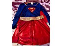 Girls Supergirl costume - size L (8-10 years)