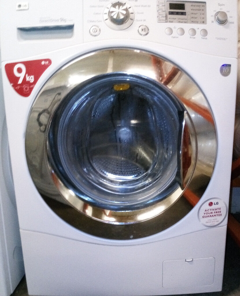 Lg f1403fd 9kg direct drive washing machine white 135 for Lg direct drive motor