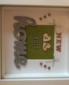 New home personalised box frame