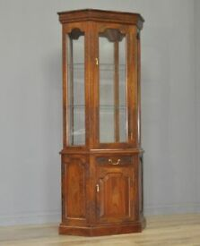 Attractive Vintage Tall Cherrywood Oriental Display Cabinet, Base Cupboard