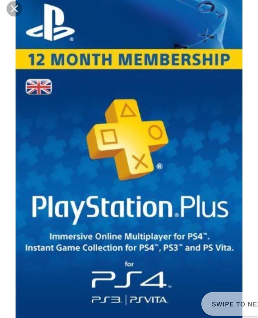 12 month PlayStation membership
