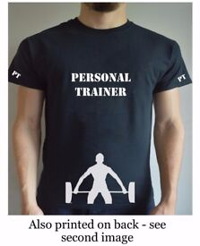 Printed Personal Trainer Deadlift T Shirt Gym Workout Training PT Work Top Tee