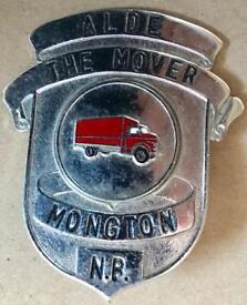 3x American or Canadian Transportation Cap Badges