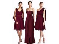Beautiful multiway burgundy bridesmaid dress