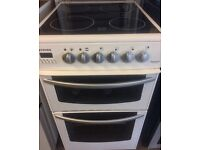 NEWHOME ELECTRIC COOKER DOUBLE OVEN WITH GRILL 50cm WIDE FREE DELIVERY AND WARRANTY
