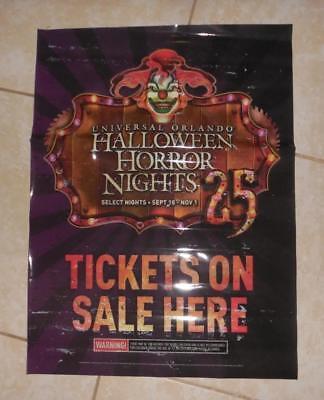Universal studio Halloween Horror nights 25 Jack the clown Promo window cling](Promo Halloween Horror Nights)
