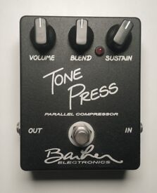 Barber Tone Press MK1, Parallel Compressor Stomp box. Like New Condition with Original Box