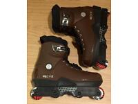 Brand new. Valo V13 Alex Broskow Coffee pro model Aggressive Skates / Rollerblades. Size UK 11