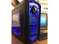 Fast Quad Core Gaming Computer PC 8GB Ram 128GB SSD R7 Windows 10 Wifi Free Delivery