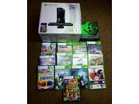 Xbox 360 S Boxed with Kinect & 40 games