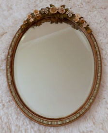 1930's Barbola Oval Mirror