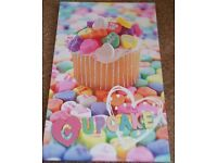 Set of cupcake photo canvases