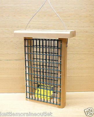 Kettle Moraine Cedar Double Suet Feeder Wild Bird Woodpecker Feeder #8316