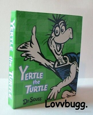 "Lovvbugg Yertle the Turtle Dr. Seuss Book Mini for 18"" American Girl Doll Accessory"