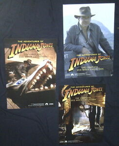 RARE ORIGINAL ADVENTURES OF INDIANA JONES DVD MOVIE POSTERS (3)