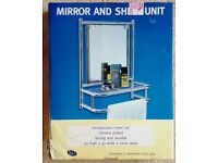 Bathroom Mirror with Shelf & Towel Rail (NEW)