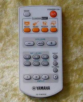 ORIGINAL YAMAHA Remote Control TSS-15 For  HOME THEATER