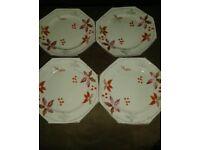 Foley china octagonal side plates x 4 - Vintage?