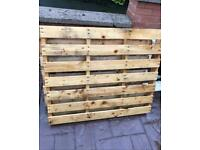 2 x WOODEN PALLETS , ideal for fire wood pit