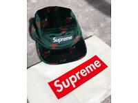 Genuine Supreme Hunter Green Sacred Heart Cap with tags