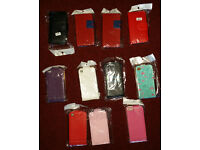 Joblot 11x iphone 4 case cover bag flip & book style red black white pink purple green New V G Quali