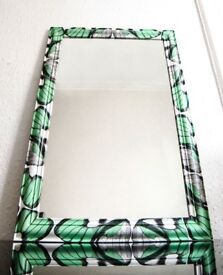 Beautiful Big Mirror, hand-decorated with dragonfly wings