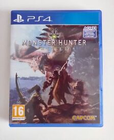 Monster Hunter World - Sony Playstation 4 Game - Amazing PS4 Action Adventure Fantasy RPG - Like New