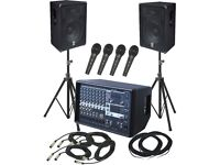 Sound Speakers System & Disco Lights FOR HIRE - Post Lockdown Party, Asian Weddings, iPhone plug in