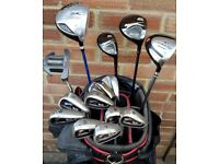 SLAZENGER BIG EZ - irons, driver, 3, 5, hybrid, putter, BENROSS trolley bag & Extra items - BARGAIN