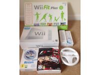 Nintendo Wii bundle - console, fit board games controllers etc