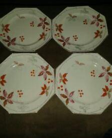 Foley china plates x 4