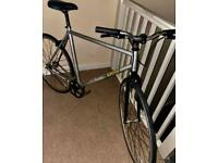 ✅ large 22 inch black/silver refurbish flip-flops Single Speed Road cycle📲