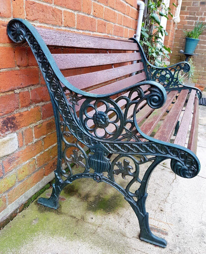 Antique Vintage Cast Iron Wood Bench For Repair Or Rebuild In Felixstowe Suffolk Gumtree
