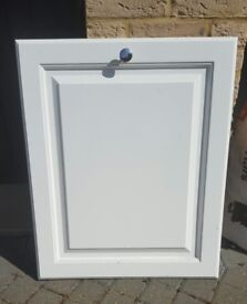 Door front for intergral dishwasher, white in good condition 60cms x 72cms