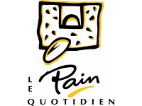 Immediate start Kitchen Porters wanted at Le Pain Quotidien in Exhibition Rd £7.20 ph+great benefits