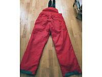 SURFANIC SKI SNOWBOARD PANTS RED - LARGE