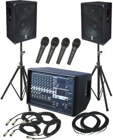PA Speaker Sound System & Disco Lights FOR HIRE - Functions, Parties, Weddings - Plug in Iphone