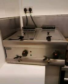 Double commercial catering fryer