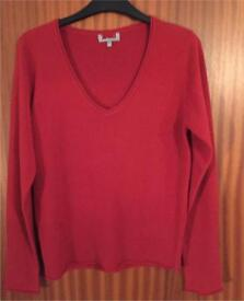 Ladies Red Jumper ~ Size 12