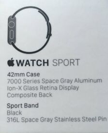 Apple Watch - 42mm Case – 7000 Series Space Grey Aluminium