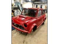 Classic Mini parts car race car unfinished project ideal doner car