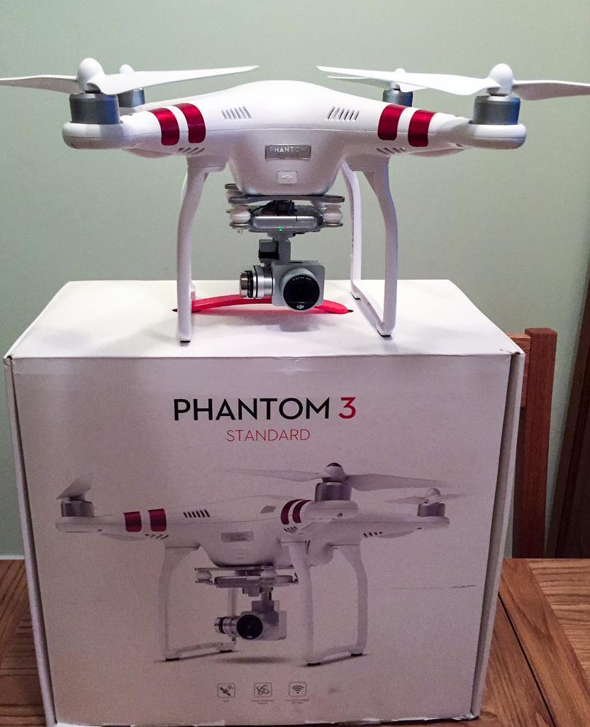 dji phantom 3 standard drone with 2 batteries backpack. Black Bedroom Furniture Sets. Home Design Ideas