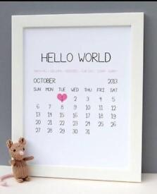 Personalised letter & birth frames