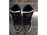Adidas high tops black/white/gold £25 Bargain!