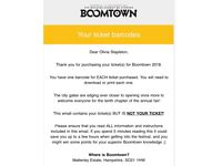 BOOMTOWN TICKET 2018 (9TH-12TH AUGUST) £270