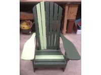 Adirondack (Bear) Chair. Hand crafted recycled wood. Two-tone Green. NEW and cheap price.