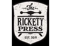 SOUS CHEF - OXFORD - THE RICKETY PRESS - 24k + TRONC